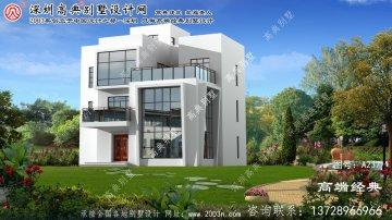 泰州市现代新型三层别墅