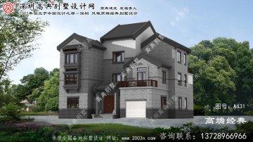 海盐县中式三层别墅设计