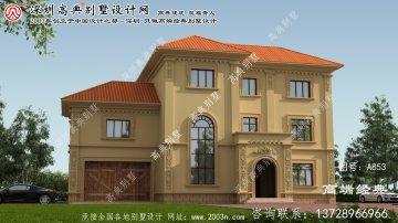 渑池县三层别墅设计图大