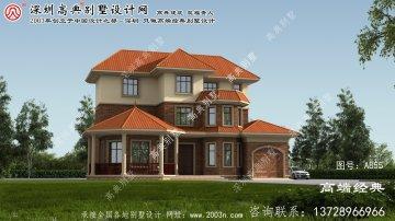 陕县简单三层别墅设计图