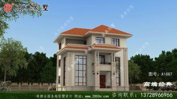元阳县乡村三层别墅设计