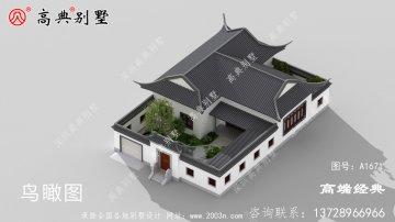 康马县农村别墅设计二层