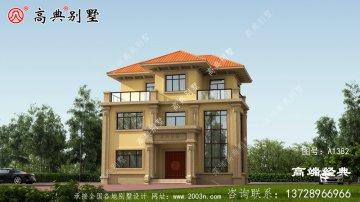 张掖市99平米农村别墅图