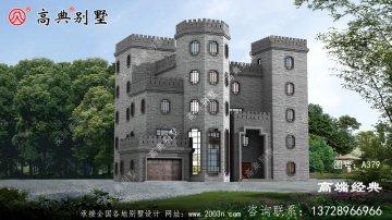 高层农村城堡别墅图平顶