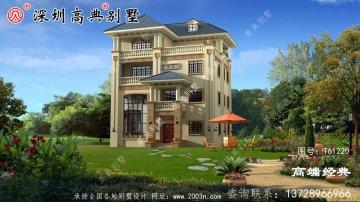豪华欧式别墅设计图,赚到了,花50万建