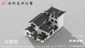 中式一款徽派风格三层农村自建房设计图