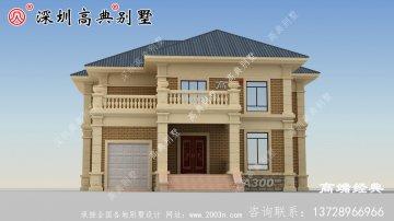 二层别墅设计图农村自建房户型图,外观