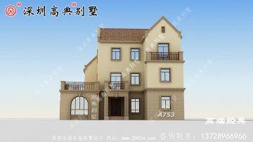 简欧坡屋顶三层户型图,满足你的别墅梦